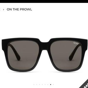 QUAY Black On the Prowl Sunglasses